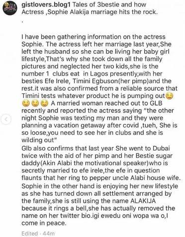 jjjjj - Actress Sophie Alakija's 4-Year-Old Marriage Reportedly Hits Rock Bottom