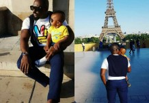 Jim Iyke and his son, JJ