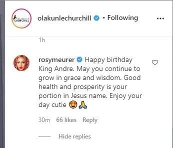 The actress' comment