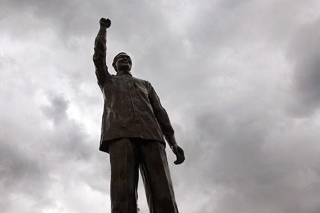 The 6.5m Bronze Statue Of Nelson Mandela At Naval Hill, Blomfoentein