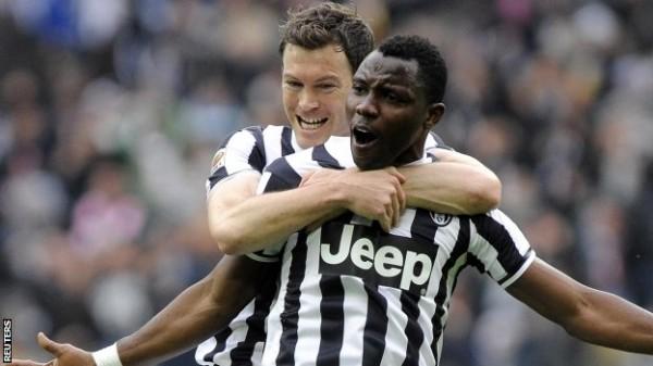 Kwadwo Asamoah Celebrates His Opener Against Chievo in 2013. Reuters.