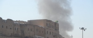 A car bomb exploded outside the governor's office in Arbil