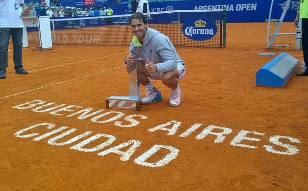 Rafael Nadal Wins His First Title in 2015. Image: Argentina Open/Sergio Liamera.