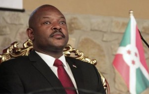 Burundi's President Pierre Nkurunziza attends the opening of a coffee conference in the capital Bujumbura February 13, 2014.
