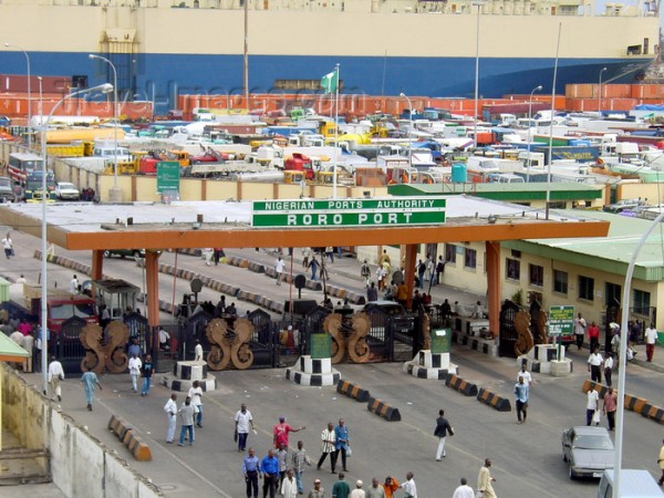 Lagos, Nigeria: entrance to the RoRo port - Nigerian Ports Authority - photo by A.Bartel