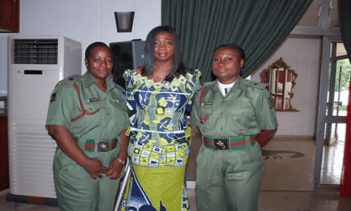 Abike Dabiri-Female soldiers