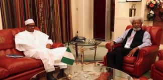 President Buhari and Wole Soyinka