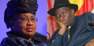 Ngozi Okonjo Iweala and Goodluck Jonathan