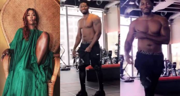 'Johnny Bravo' – Tiwa Savage gushes over her ex, Teebillz as he hits the gym