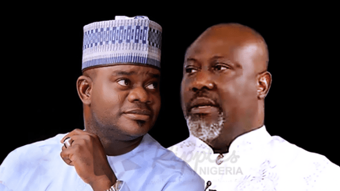Nigerians Roast Dino Melaye For Saying He Plans To Send Yahya Bello To Prison