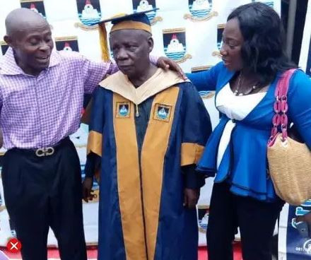 80-year-old graduates from Lagos State University (LASU) with an Msc degree