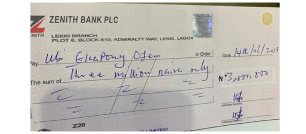MC Galaxy gifts Ubi Franklin N3million for doing this