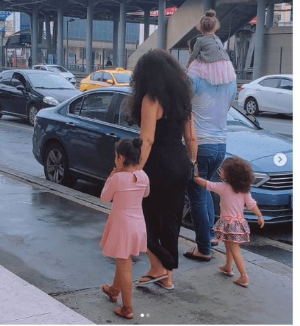 Ghanaian Actress, Nadia Buari and her two daughters