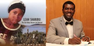 Reno Omokri and Leah Sharibu