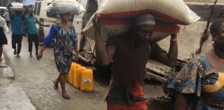 Alabaru on duty in Lagos Market