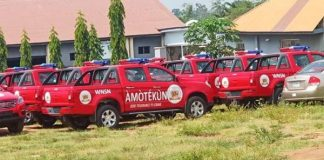 Amotekun Operation vehicles