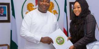 Racheal Okonkwo and enugu state governor