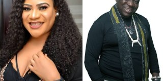 Actress Nkechi Blessing and Mr Ibu