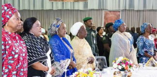 Aisha Buhari at the event
