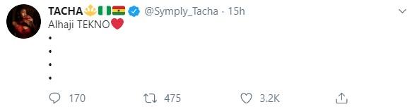 Reality TV star Tacha