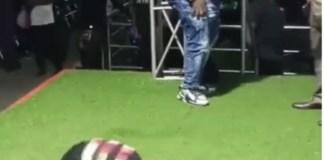 Mr Ibu and the female dancer