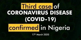 Third case of Coronavirus in Nigeria