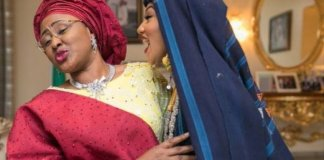 Aisha Buhari and Daughter