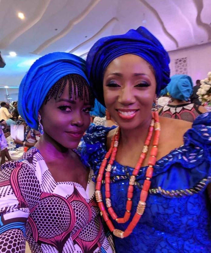 Lupita Nyong'o and a guest at the wedding