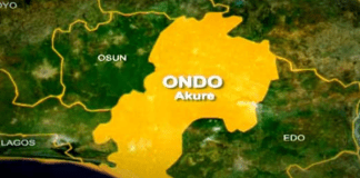 Ondo on map