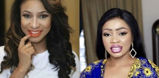 Tonto Dikeh and Blessing Osom