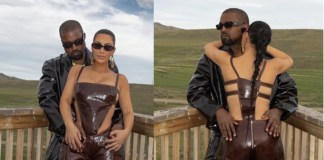 Kim Kardashian and her husband, Kanye West