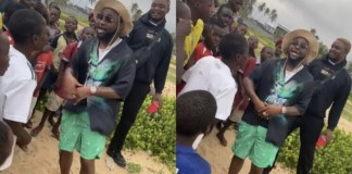 Davido and the little kids