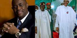Collage photo of Fani Kayode, Buhari and Tinubu