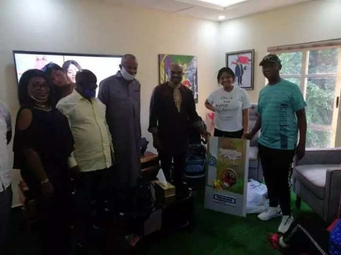 The Actors Guild of Nigeria (AGN) pictured with Regina Daniels and Ned Nwoko