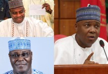 "The All Progressives Congress (APC) has beckoned to former Vice President Atiku Abubakar to return to the party in the spirit of reconciliation. The ruling political grouping also extended the olive branch to ex-Senate President Bukola Saraki and Sokoto State Governor Aminu Tambuwal, as well as others who defected in 2015 till date. APC said the resolve by Senator Barnabas Gemade and the immediate speaker of the House of Representatives, Yakubu Dogara, to return to its fold ""clearly attests to the fact that the ongoing effort by the Governor Mai Mala Buni-led caretaker committee to reconcile aggrieved members and strengthen the party is yielding the desired result."" ""We assure all true progressives, who left the party over whatever grievance, to return and join ongoing efforts to reposition the APC and further achieve our pro-people plans for the country,"" the party's deputy national publicity secretary, Yekini Nabena, pleaded."