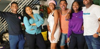 Omotola Jalade-Ekeinde and her family