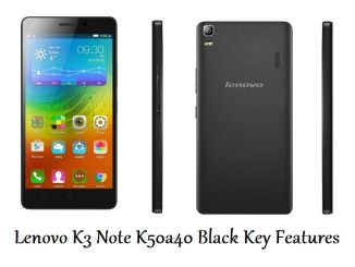 Lenovo K3 Note K50a40 Black Key Features