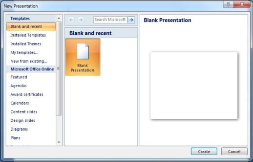 Microsoft Powerpoint Blank Presentat