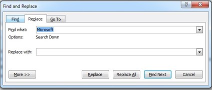 Editing Text in Microsoft Word 2007 Replacing Text2
