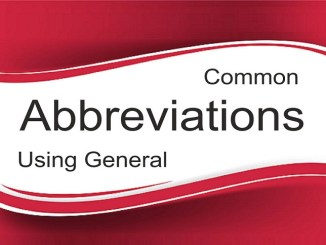 Most Common & Important Abbreviations