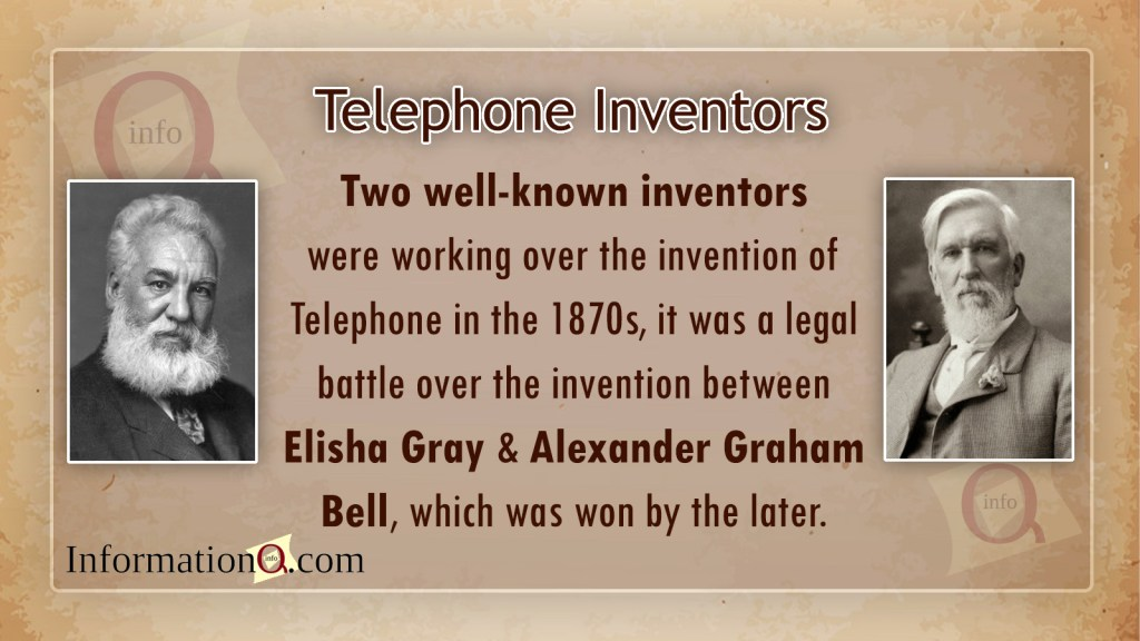 Telephone inventors - Elisha Gray and Alexander Graham Bell
