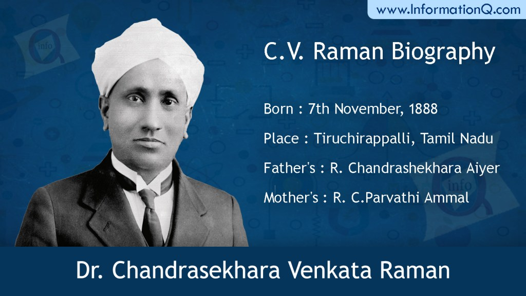 Biography of  Dr. Chandrasekhara Venkata Raman