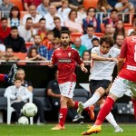 2-1. Ventaja corta para el Mestalla ante el Real Murcia