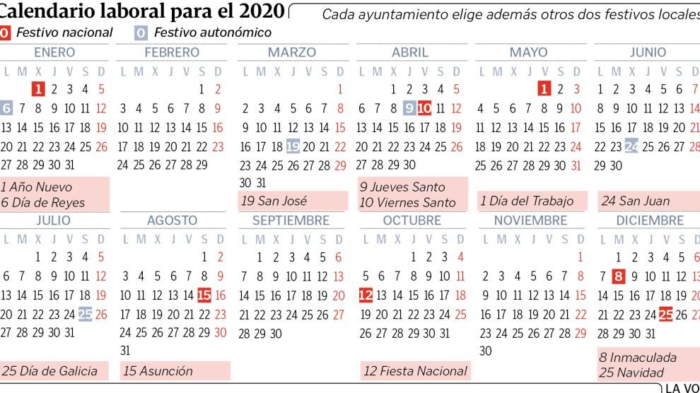 Calendario Laboral Alzira 2020.Calendario 2020 Comunidad Valenciana