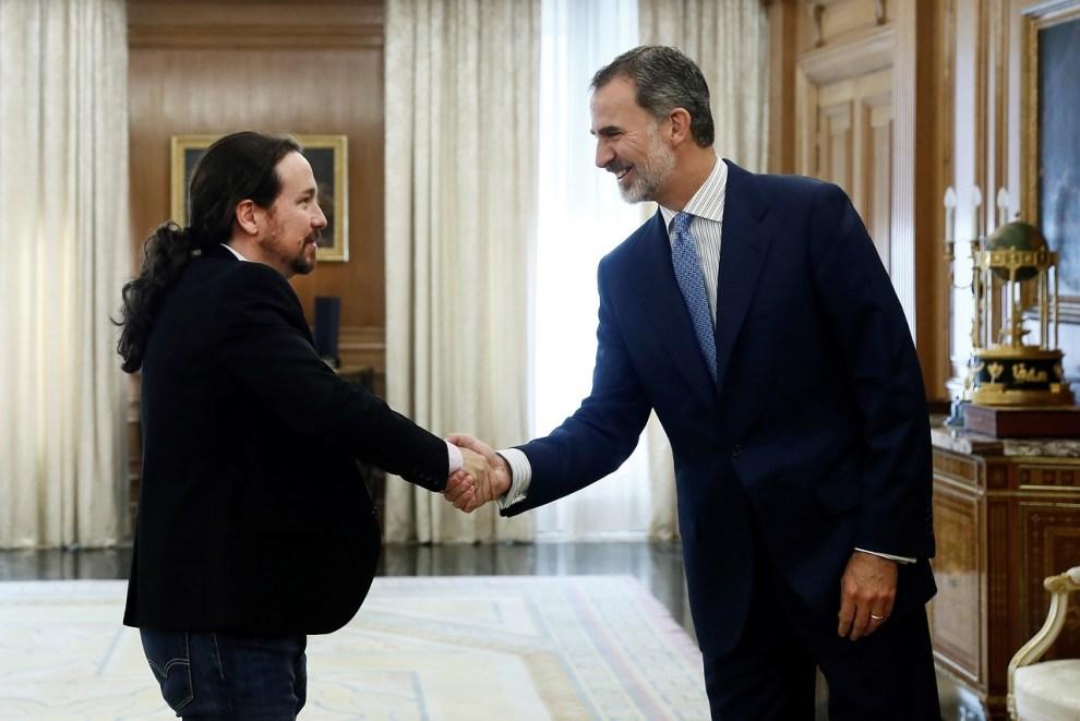 Su Majestad el Rey Felipe VI recibe a Pablo Manuel Iglesias./Img Rtve