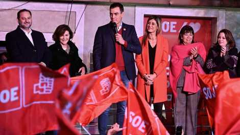 Núcleo duro del PSOE, noche electoral/Img. rtve
