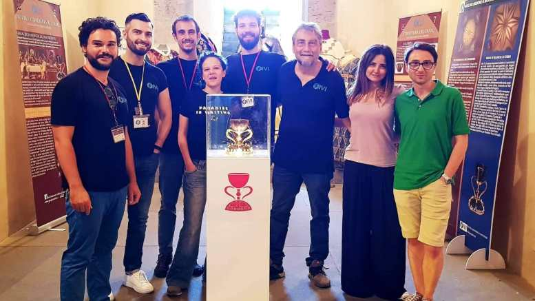El equipo de la Asociación IVI de Nápoles en el Laboratorio de Historia del Arte en la Facultad de Geografía e Historia./Img. informaValencia.com