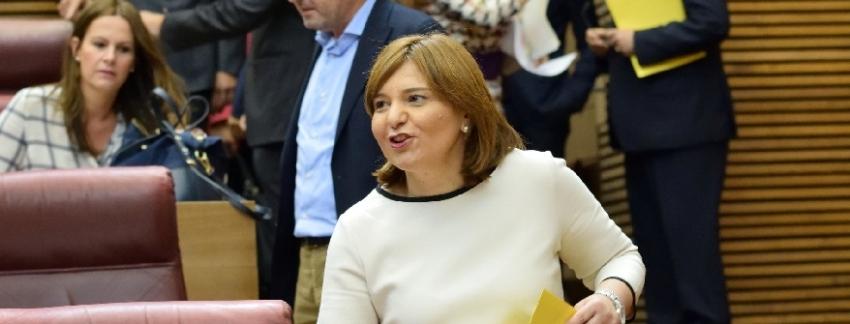 Isabel Bonig ayer en el pleno de Les Corts/Img PPCV