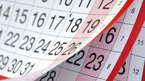 Calendario 2020, año bisiesto