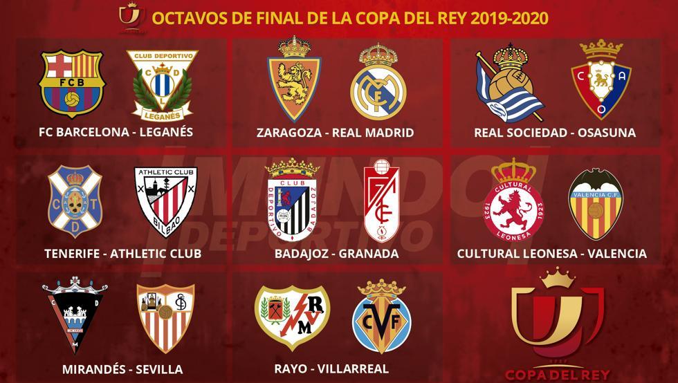 Sorteo octavos de final Copa del Rey/MD